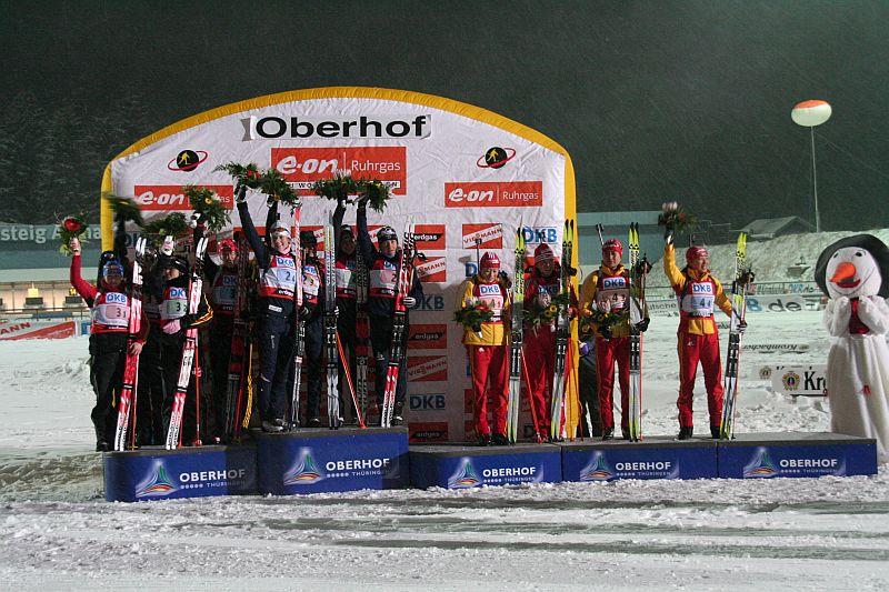 Staffel Frauen Weltcup Oberhof 2007