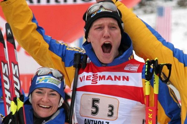 Anna Carin Olofsson und Björn Ferry