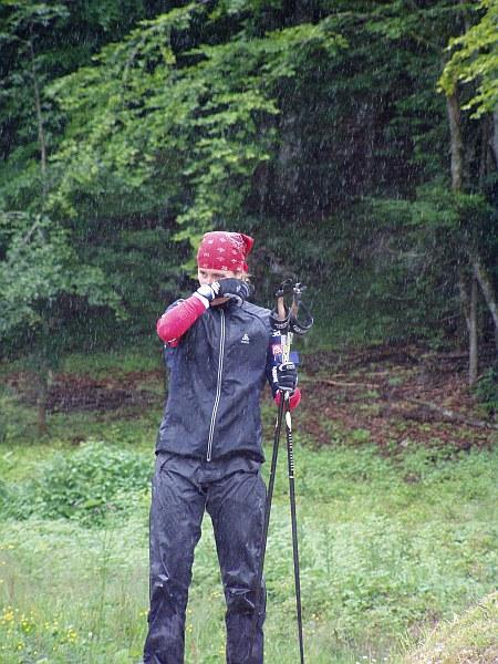 Der Regen macht auch Peretto zu schaffen