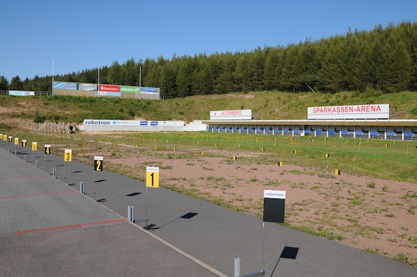 Das Altenberger Biathlon-Stadion