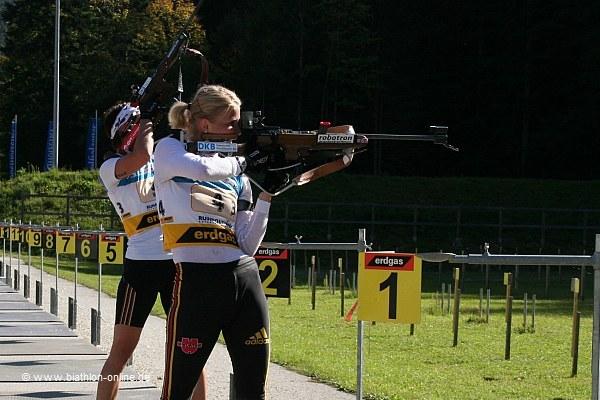 Niziak und Buchholz beim letzten Schießen