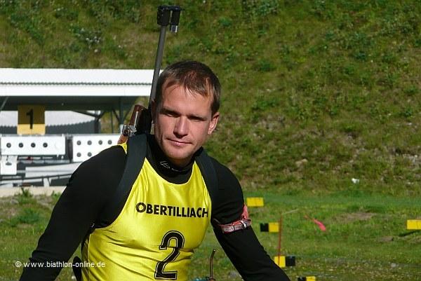 Sektdusche für Carsten Pump bei -7°C
