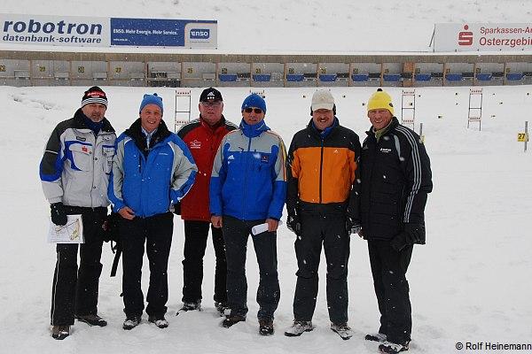 (v.l.n.r) Eberhard Rösch, Rolf Heinemann, Wolfgang Landt, Norbert Baier, Franz Berger und Thomas Kirsten