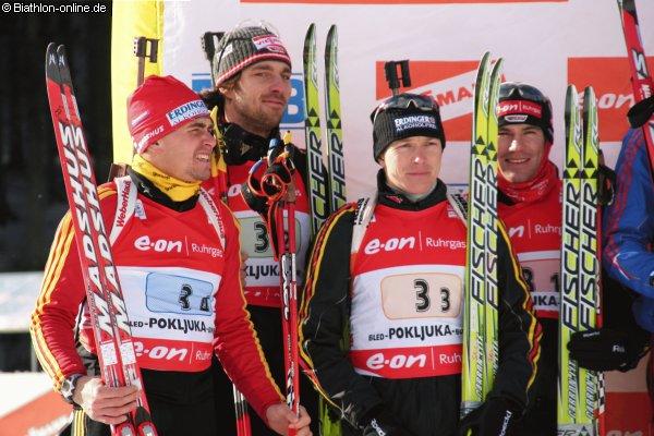 Deutsche Herrenstaffel beim Weltcup in Pokljuka
