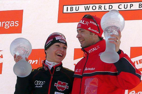 Magdalena Neuner und Ole Einar Bjoerndalen