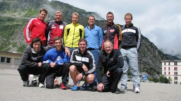 Bayerische Trainingsgruppe in der Schweiz