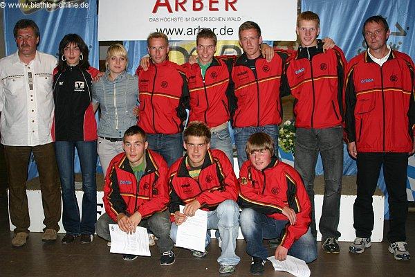 Das Sommerbiathlon-Team 2008