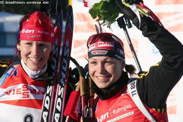 Kati Wilhelm und Magdalena Neuner