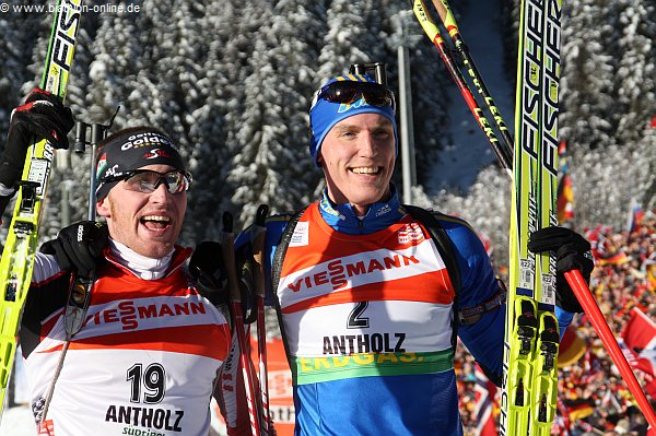 Simon Eder und Björn Ferry