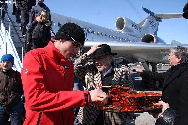 Landestypischer Empfang auf Kamchatka