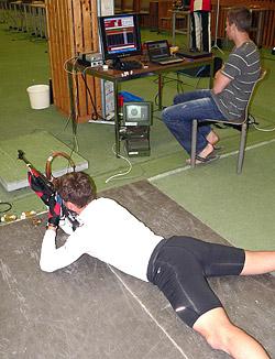 der Biathlon-Messplatz wurde für detaillierte Schießanalysen genutzt