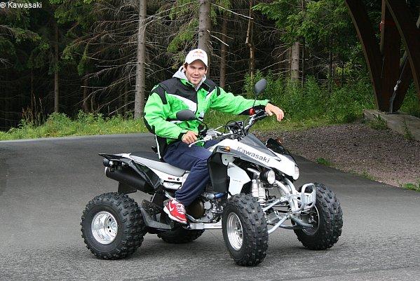 Michael Rösch mit seinem Kawasaki-Quad