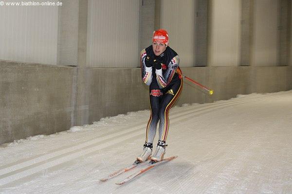 Sabrina Buchholz in der Oberhofer Skisporthalle