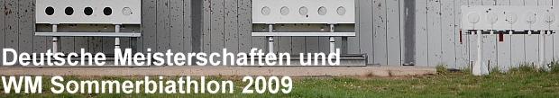 Deutsche Meisterschaften und Sommerbiathlon WM, September 2009