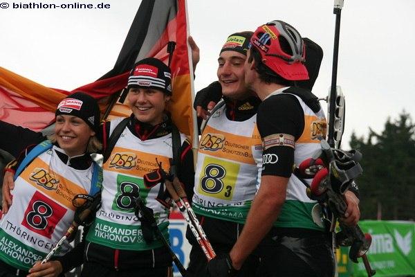 Freude im Deutschen Team