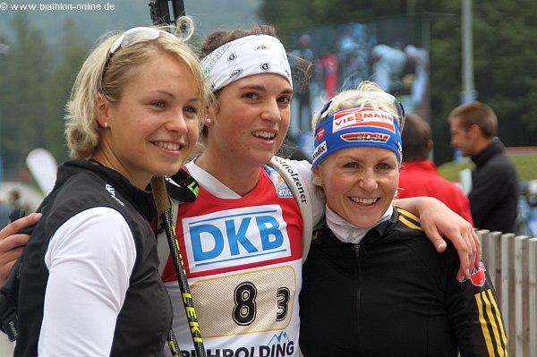 Beck mit ihren Bayerischen Team-Kollegen