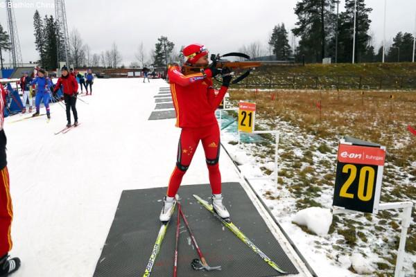 China beim Training in Östersund