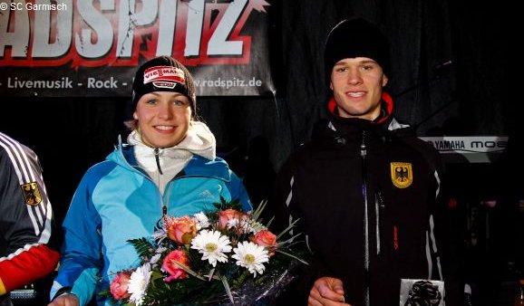 Magdalena Neuner und Matthias Bischl
