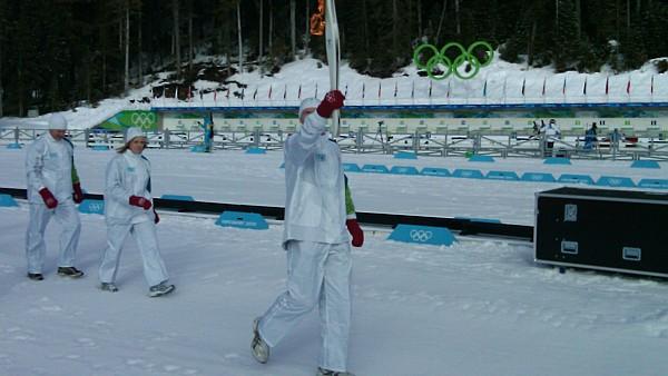 Die Olympische Flamme in Whistler