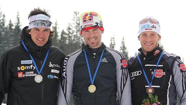 Podium nach dem Sprint