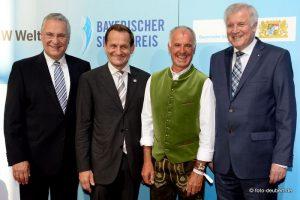 Sportminister Joachim Herrmann, Alfons Hörmann, Fritz Fischer und Ministerpräsident Horst Seehofer