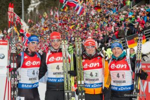 Simon Schempp (GER), Arnd Peiffer (GER), Daniel Boehm (GER), Eric Lesser (GER)