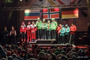 EYOF 2015 Siegerehrung Mixed Staffel