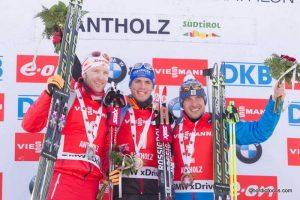 Simon Eder (AUT), Simon Schempp (GER), Evgeniy Garanichev (RUS)