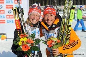 Franziska Hildebrand und Laura Dahlmeier GER