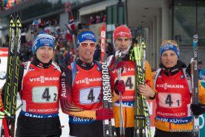 Andreas Birnbacher  (GER), Simon Schempp (GER), Arnd Peiffer (GER), Eric Lesser (GER)