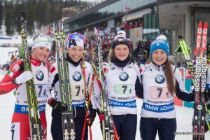 Staffel Italien:  Karin Oberhofer (ITA), Federica Sanfilippo (ITA), Nicole Gontier (ITA), Dorothea Wierer (ITA)