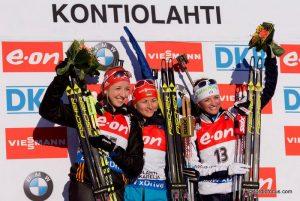 Franziska Preuss (GER), Valj Semerenko (UKR), Karin Oberhofer (ITA)