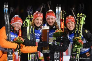 Franziska HILDEBRAND (GER),  Franziska PREUSS (GER), Vanessa HINZ (GER), Laura DAHLMEIER (GER)