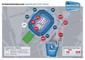 Streckenverlauf Biathlon WTC 2015