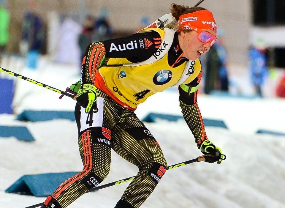 Laura Dahlmeier in gelb