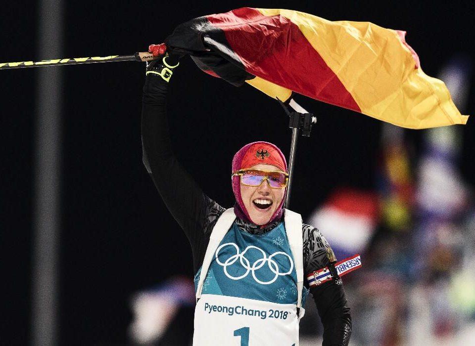 Olympiasiegerin Laura Dahlmeier Verfolgung