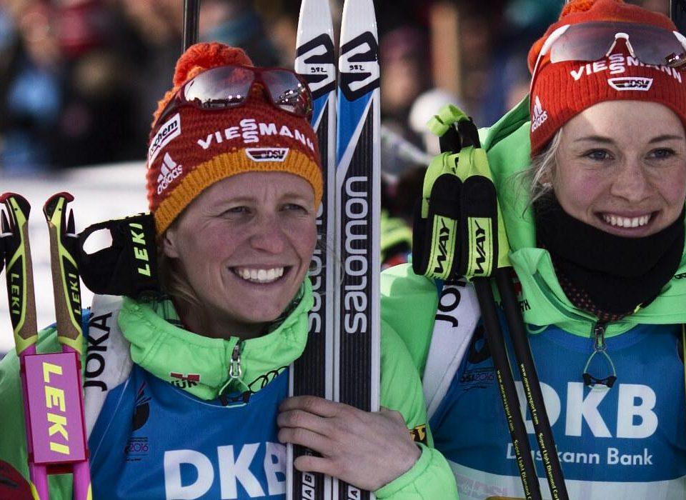Laura Dahlmeier, Maren Hammerschmidt, Franziska Hildebrand, Franziska Preuss