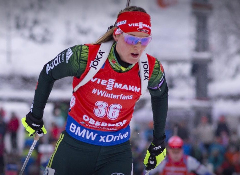 Platz 2 Denise Herrmann, deutsche Damenstaffel Oberhof 2019