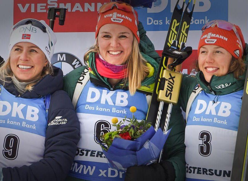 Denise Herrmann, Laura Dahlmeier, Tiril Eckhoff
