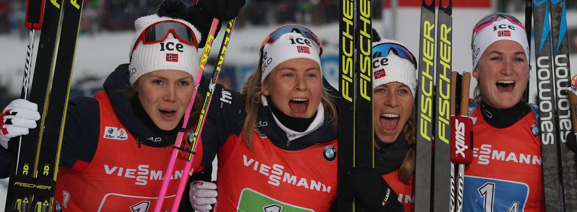 Damenstaffel Norwegen Hochfilzen 2019