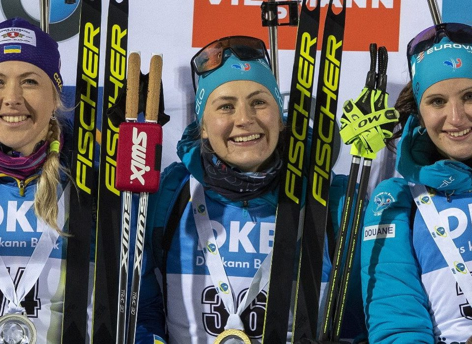 Sieger Einzelrennen Damen Östersund 2019 J. Braisaz