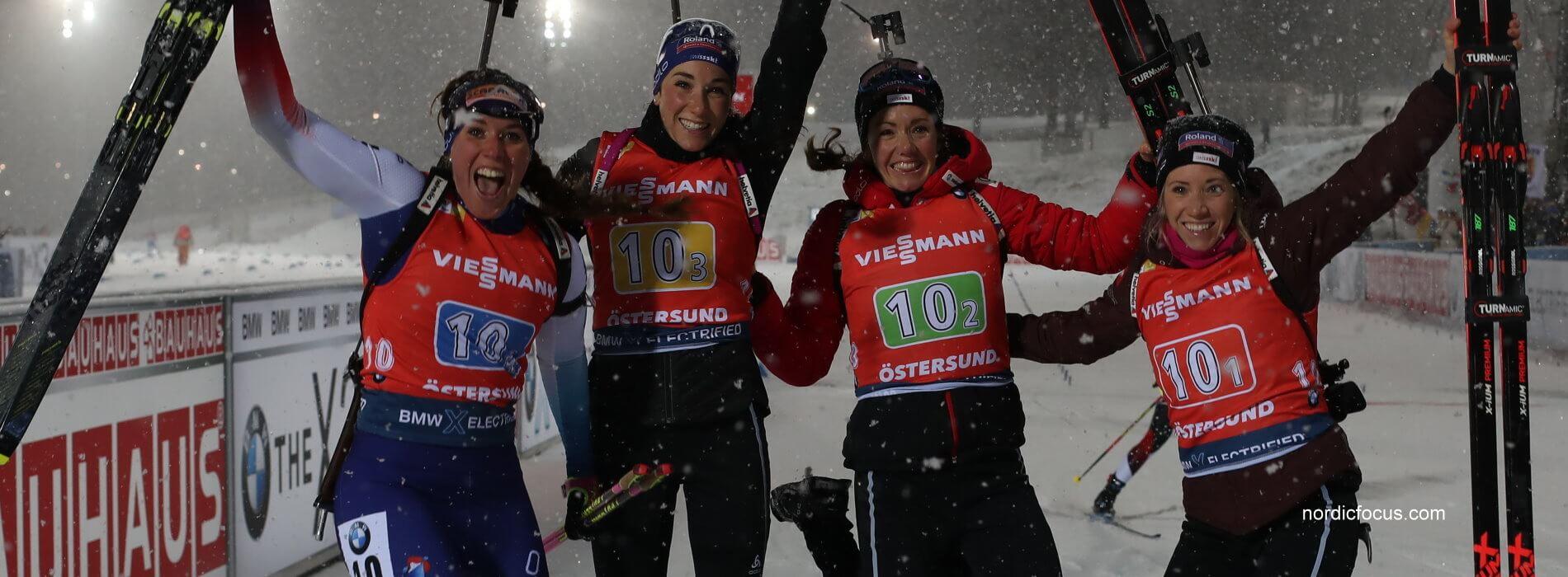 2. Platz Staffel Schweiz in Östersund