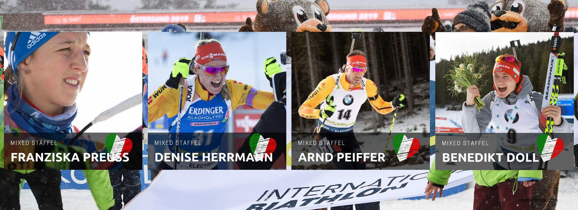 WM Antholz Mixed Staffel Deutschland
